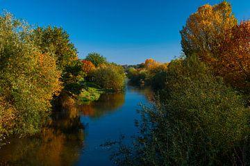 Rivier de Roer in Zuid-Limburg van René Vogel