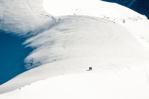 Alpinisten in de Vallee Blanche