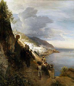 Oswald Achenbach.Die Amalfiküste
