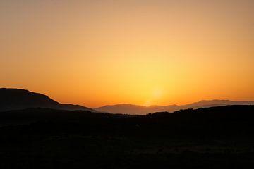 Sunrise Corfu van Serge Sanramat
