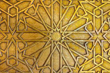 Laiton porte détail du palais, le Maroc sur Rietje Bulthuis