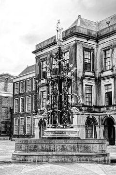 Binnenhof Den Haag Die Niederlande Schwarz und Weiß von Hendrik-Jan Kornelis