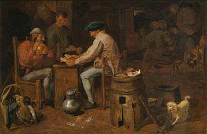 Kartenspieler und Blechbläser, Adriaen Brouwer