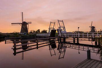 Kinderdijk - Sonnenuntergang - Mühlen von Fotografie Ploeg