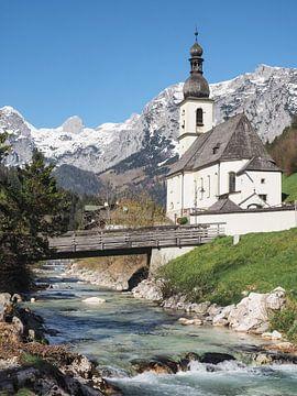 Kerk in Ramsau in Berchtesgadener Land van Katrin May
