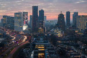 Het uitzicht op de Oude Haven in Rotterdam