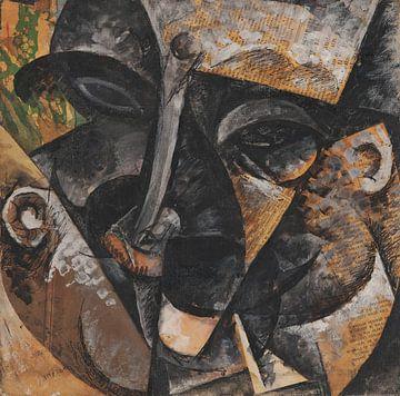 Umberto Boccioni~Die Dynamik eines Männerkopfes