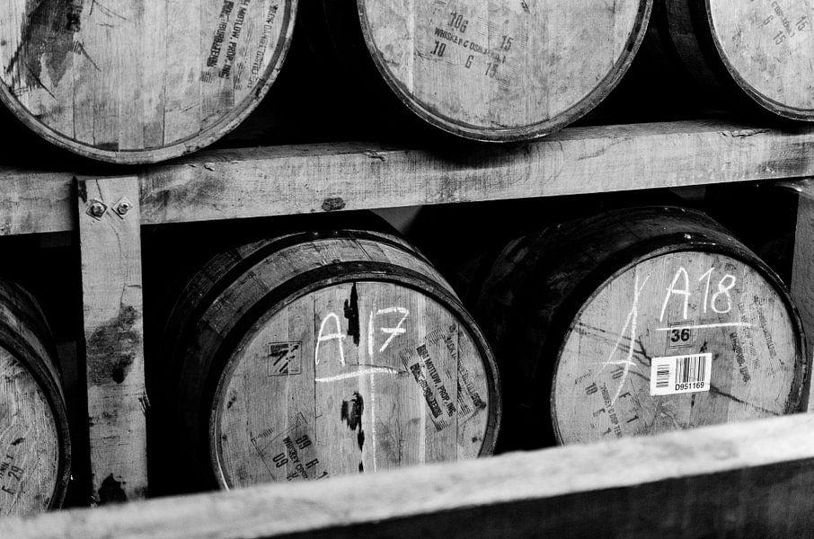 Whiskey barrels van Jeffrey de Graaf