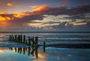 Wattenmeer, Niederlande von Peter Bolman