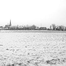 sneeuw in de polder van Patrick Herzberg