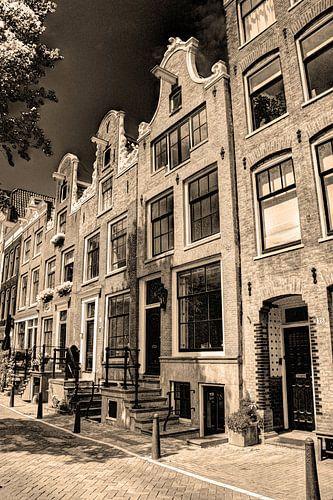 Jordaan Bloemgracht Amsterdam Nederland Sepia