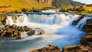 Watervallen nabij Kirkjubaejarklaustur, IJsland van Henk Meijer Photography