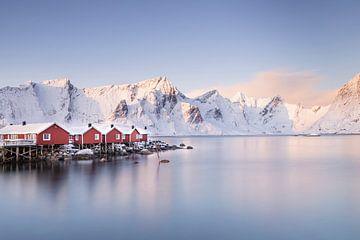 Norwegische rote Häuser von Charlotte Jalvingh