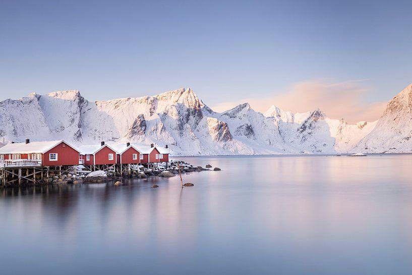 Noorse rode huisjes van Charlotte Jalvingh