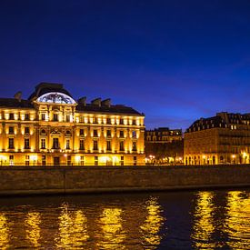 Blick auf historische Gebäude in Paris, Frankreich von Rico Ködder