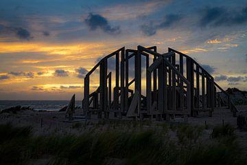 Zonsondergang van Wim van der Wind