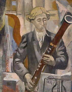 Christian Hess, Repetitie van het concert - fagotist - 1928 van Atelier Liesjes
