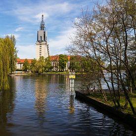 Potsdam Skyline op de Havel van Frank Herrmann