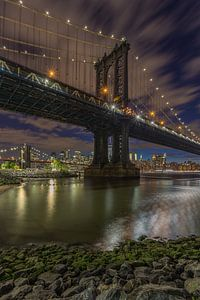 New York Skyline - Manhattan Bridge and Brooklyn Bridge 2016 (1)