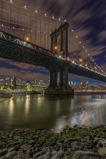 New York Skyline - Manhattan Bridge and Brooklyn Bridge 2016 (1) van Tux Photography