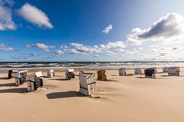 Strand van Ahlbeck op Usedom van Werner Dieterich
