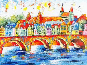 Skyline Maastricht von Artflow Schilderijen
