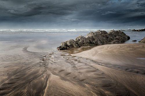 Storm voor de kust van Casablanca in Marokko