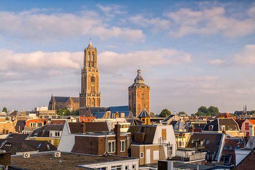 Utrecht - Domtoren zonsondergang van
