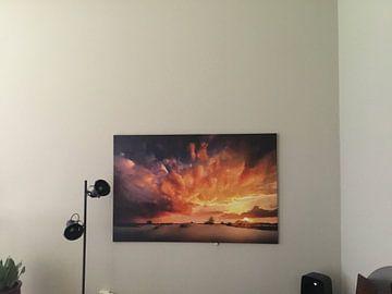 Klantfoto: Surrealistische  zonsondergang van Nando Harmsen
