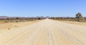 Piste du désert en Namibie