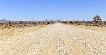 Woestijnpad in Namibië