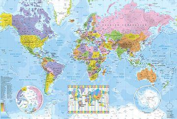 Politische weltkarte von MAPOM Geoatlas