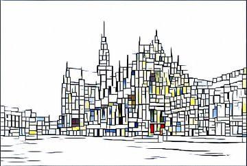 Grote Sint Bavo abstract. von Olaf Kramer