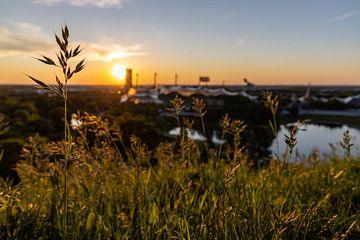 Sonnenuntergang Olympiapark München von Martina David