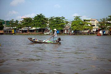 Drijvende markt in de Mekong Delta (Vietnam) van t.ART
