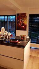 Klantfoto: Italiaanse vreugde van het leven in de keuken van Tanja Riedel, op canvas