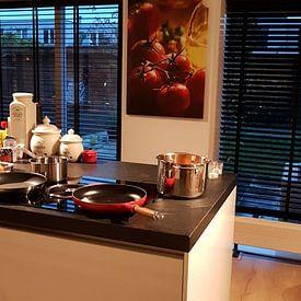 Kundenfoto: Italienische Lebensfreude in der Küche von Tanja Riedel, auf leinwand