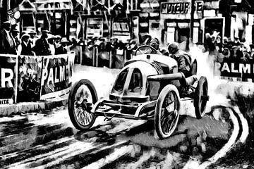 René Thomas und der Große Preis von Frankreich 1913 - Version b/w van Jean-Louis Glineur alias DeVerviers