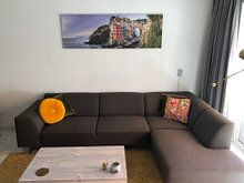 Klantfoto: Riomaggiore - Cinque Terre van Teun Ruijters, op canvas