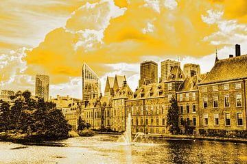 Binnenhof van Den Haag Nederland Goud van Hendrik-Jan Kornelis