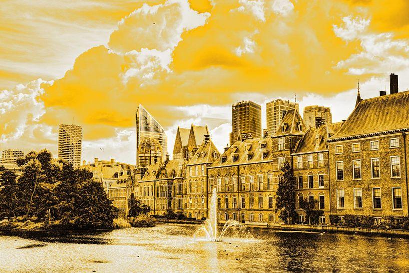 Binnenhof von Den Haag Niederlande Gold von Hendrik-Jan Kornelis