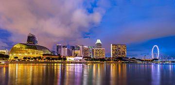 Avond in Singapore Panorama van Adelheid Smitt