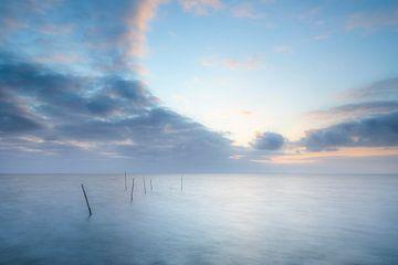 Filets de pêche dans l'IJsselmeer sur Ton Drijfhamer