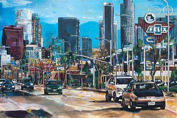 Los Angeles malerei von Jos Hoppenbrouwers