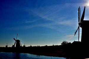 Silhouette van molens