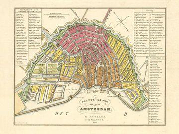 Plattegrond Amsterdam - 1840