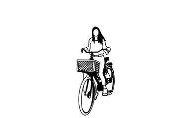 Une fille et son vélo