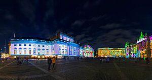 Berlin Bebelplatz Panorama - La nuit dans une lumière spéciale
