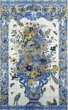 Fliesen-Tableau mit Blumenstillleben von Meesterlijcke Meesters
