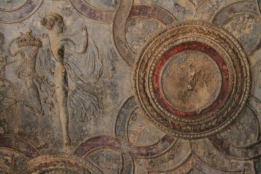 Muurschildering in Pompeii
